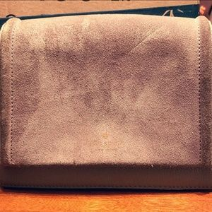 Kate Spade Grey Suede and Leather Crossbody Bag